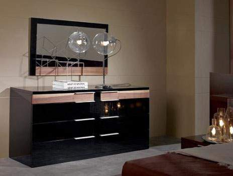 exclusive contemporary design black lacquered dresser