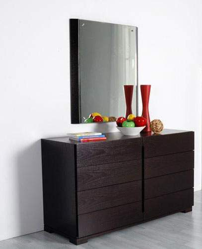 No Handles Eight Drawers Contemporary Dresser In Dark Brown Prime For Dressers Bestdressers