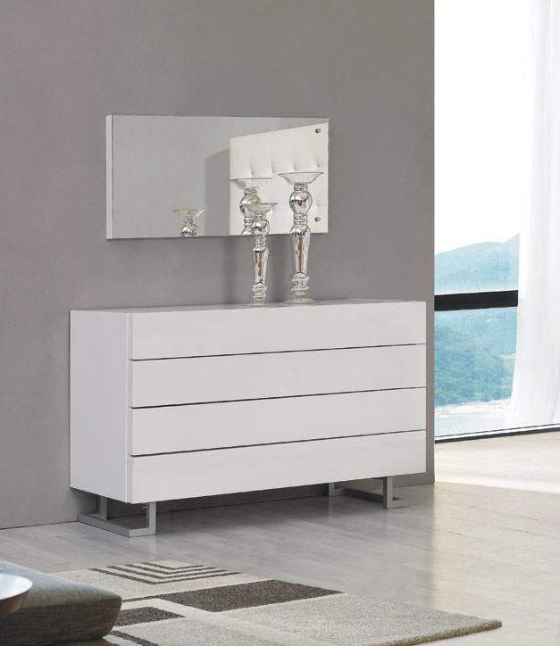 Elise Dresser In White Or Black Luxury Lacquer On Stylish Legs Prime Classic