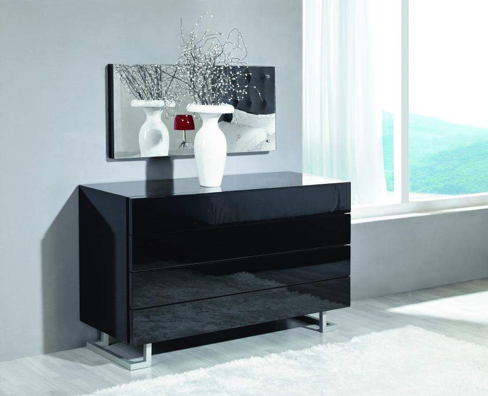Black Lacquer Bedroom Furniture. larger image Elise Dresser in White or Black Luxury Lacquer on Stylish Legs