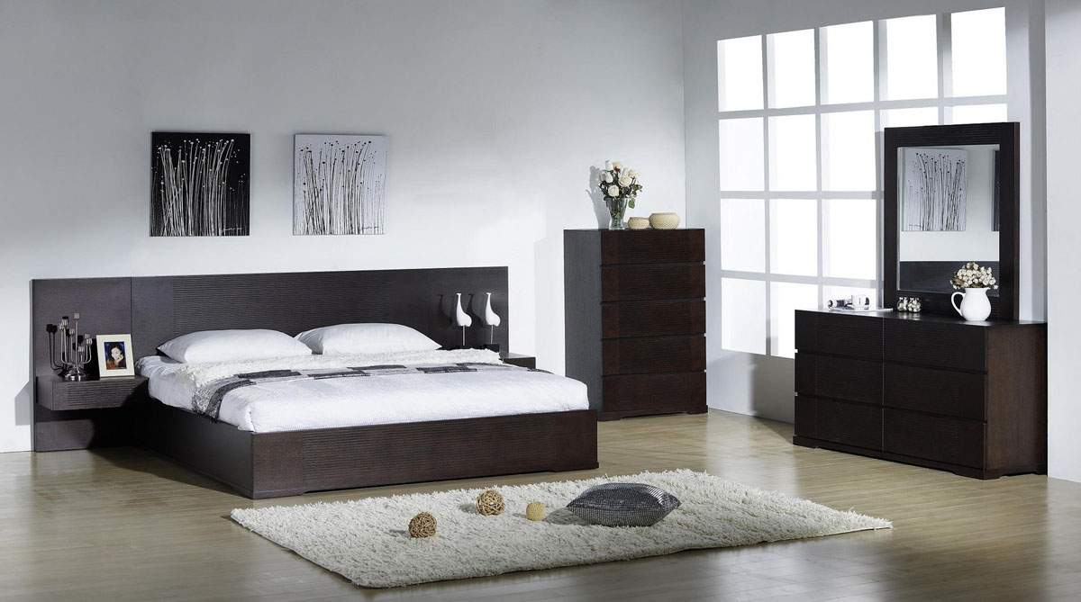 Elegant quality modern bedroom sets with extra long for Master bed furniture