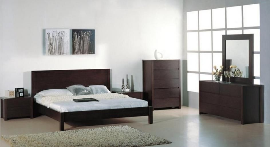 stylish wood high end contemporary furniture set