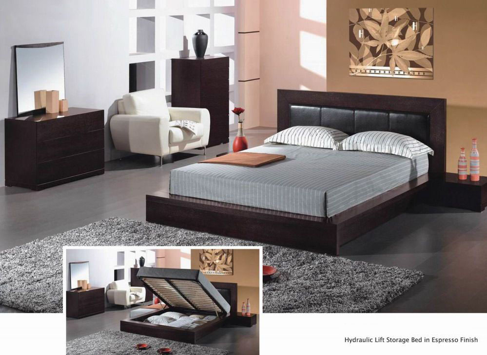 Unique leather platform bedroom furniture sets lincoln for Unique master bedroom furniture