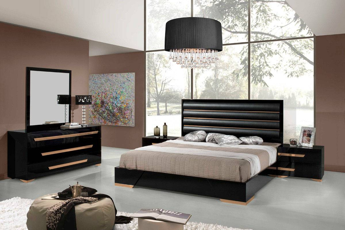 Made in italy quality modern contemporary bedroom designs for Black modern decor