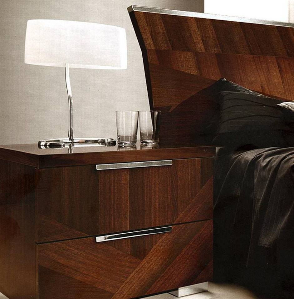 Made in Italy Wood High End Contemporary Furniture in Brown Lacquer San  Jose California ESF-Capri