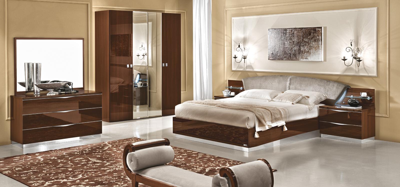 Made In Italy Wood Bedroom Set Design With Extra Storage Seattle Washington Esf Onda Walnut