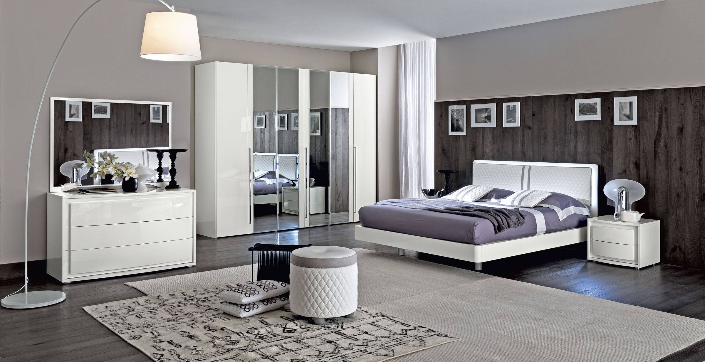 Made in italy wood modern contemporary master beds tempe arizona esf camelgroup dama bianca for Contemporary bedroom furniture
