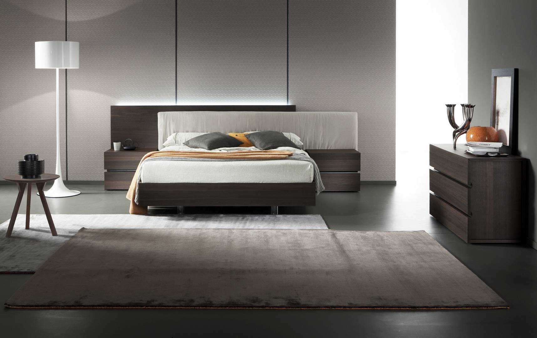 made in italy wood modern contemporary bedroom sets san 12591 | dark brown oak wood italy europe bedgroup suite arros edge