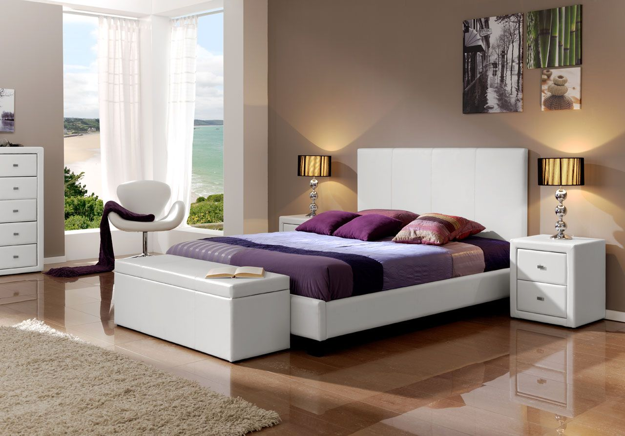 Made in Spain Leather Luxury Bedroom Furniture Sets feat Light ...