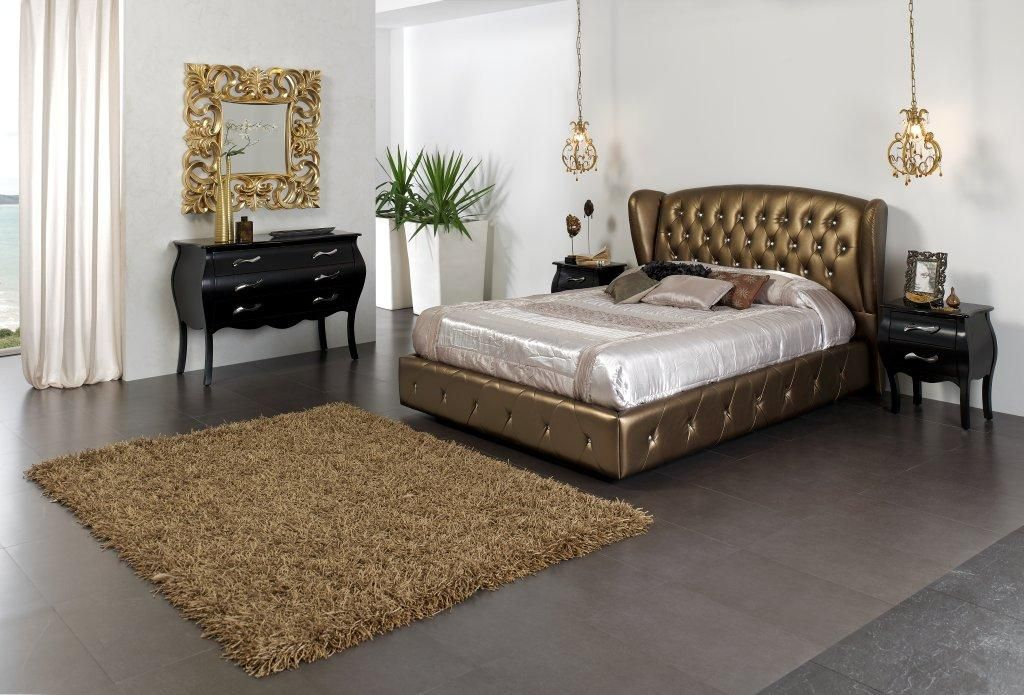 Made in Spain Leather Contemporary Bedroom Set Design