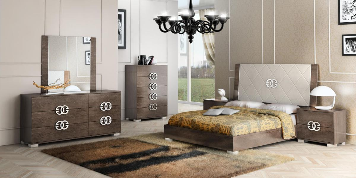 Made in Italy Elegant Leather High End Bedroom Sets San Bernardino
