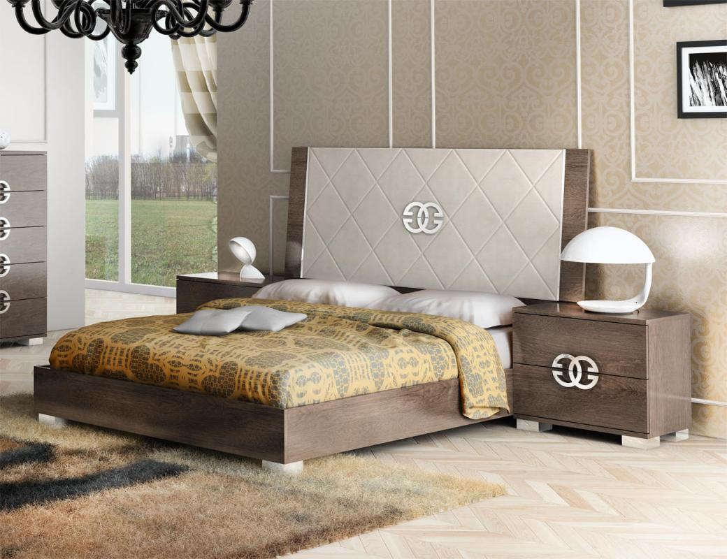 Made in Italy Elegant Leather High End Bedroom Sets
