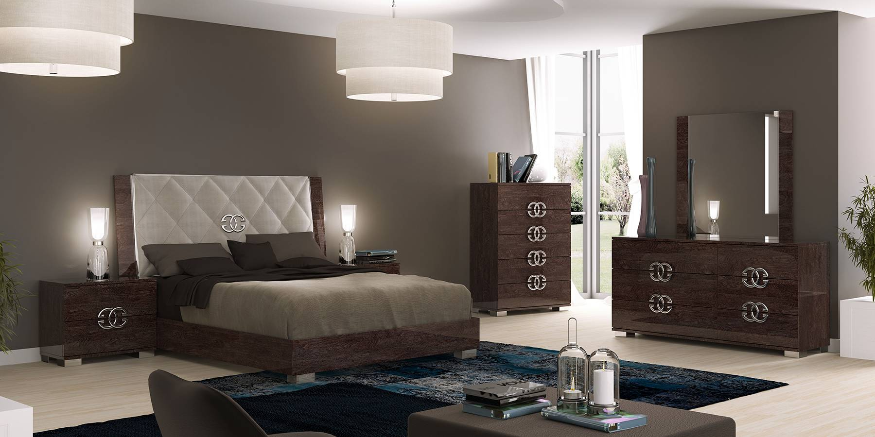 Made in italy elegant leather high end bedroom sets san High end bedroom design