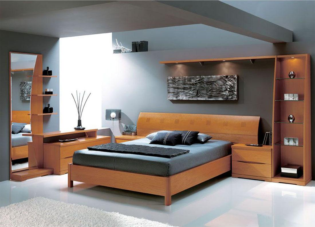 Made in spain wood platform bedroom set with extra storage for Bedroom furniture spain