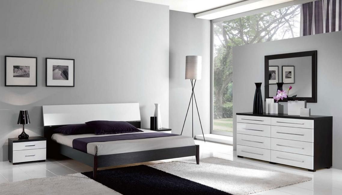Fashionable Wood Grain Modern Design Bed Set Made In Italy