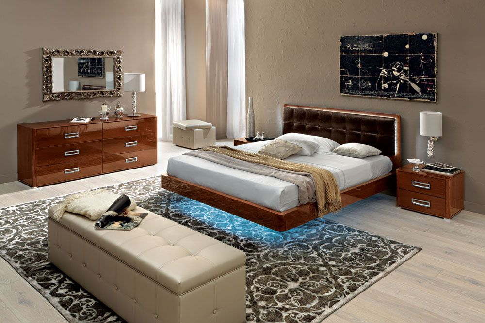 Made in italy leather high end bedroom furniture sets feat High end bedroom design