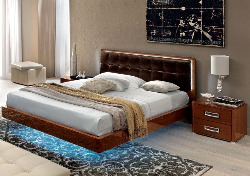 made in italy leather high end bedroom furniture sets feat