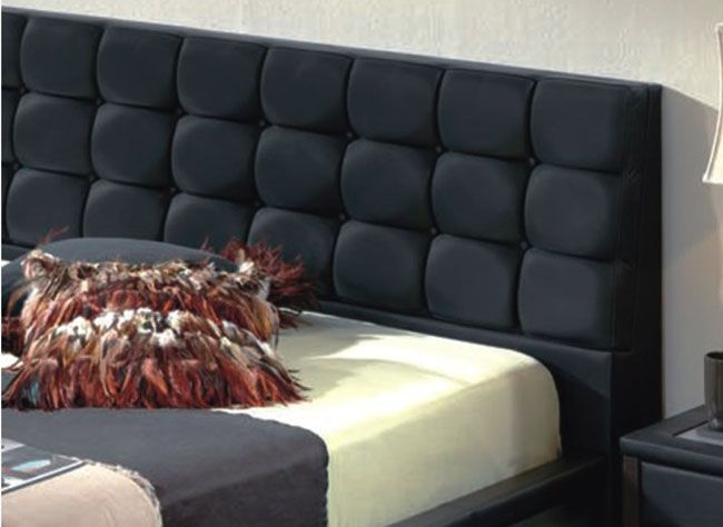 Unique Leather Design Bedroom Furniture With Padded Headboard Riverside California Esf Toledo