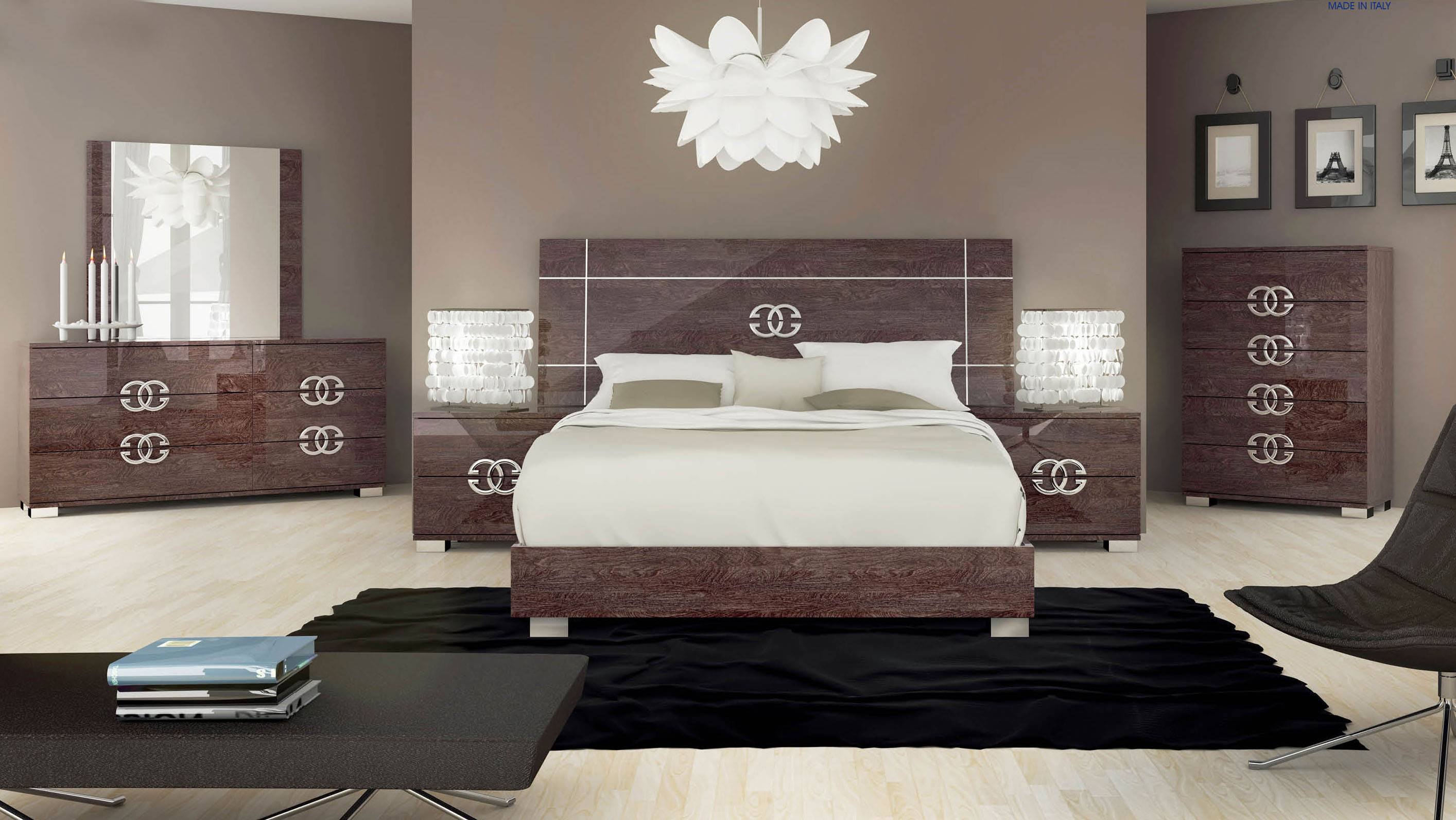 exclusive wood design bedroom furniture boston 12591 | esfpres class italy bed suite 01