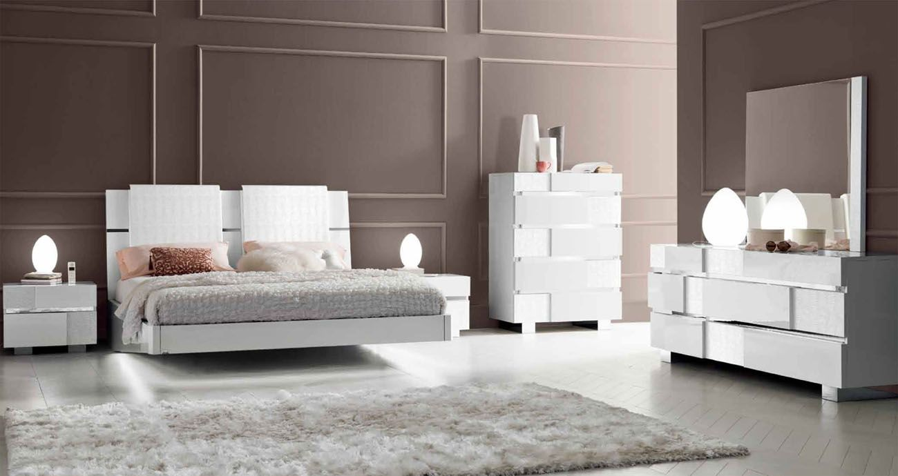 Made in italy wood modern contemporary master beds los - Contemporary modern bedroom sets ...