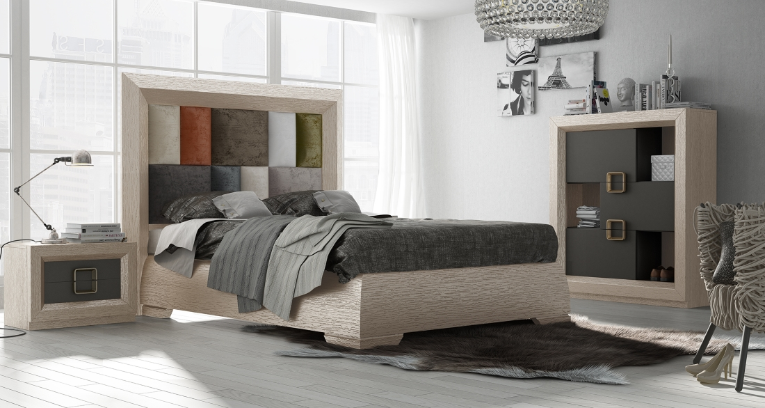 unique wood modern master bedroom set hton virginia 17676 | european collection modern bedgroup with golden handles wood grain ez 73