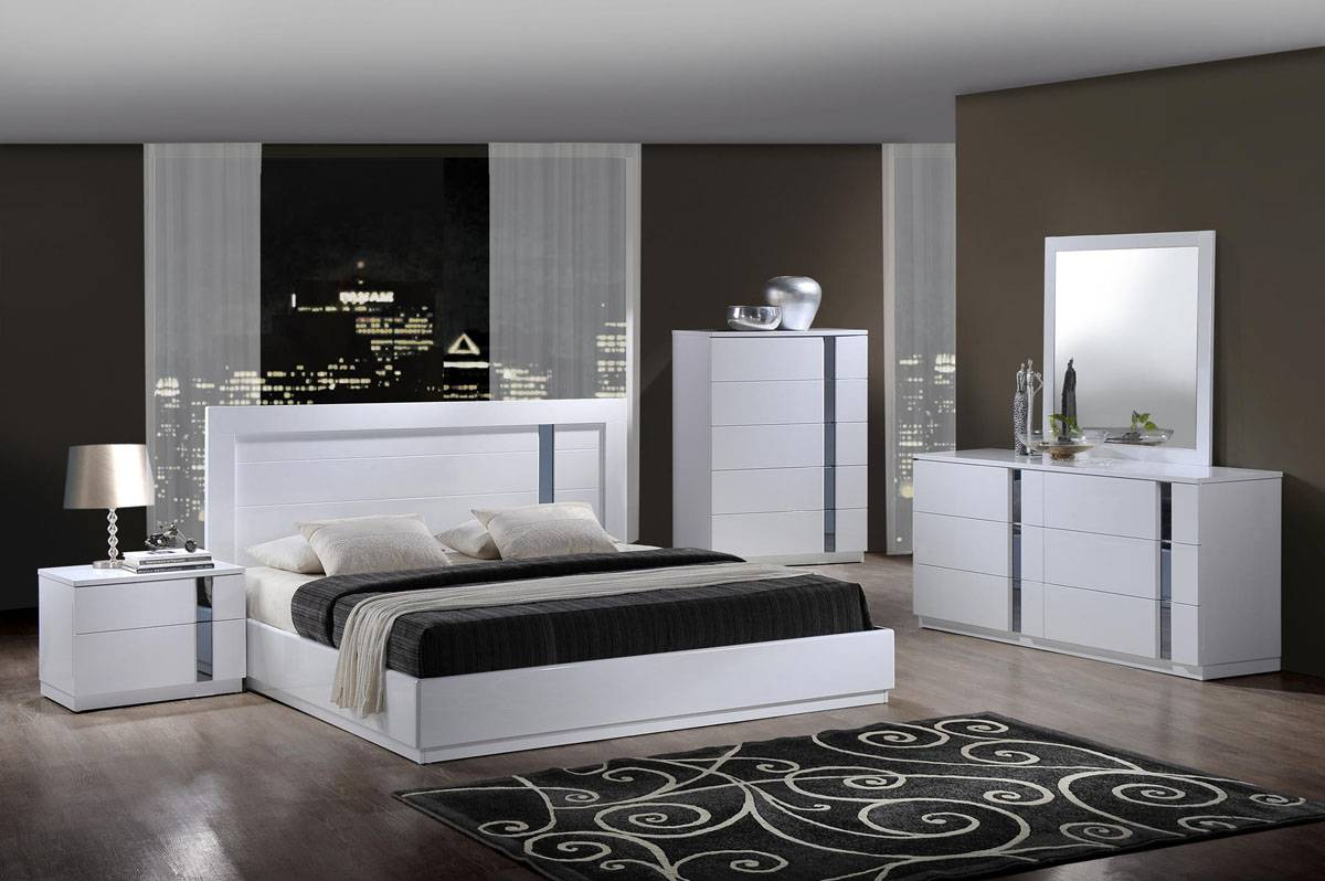 Elegant quality contemporary platform bedroom sets las - Contemporary modern bedroom sets ...