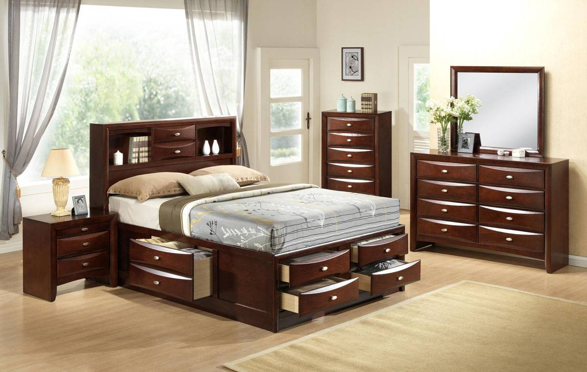high class quality designer bedroom set with extra storage los angeles california gf linda ForBedroom Set With Storage Drawers