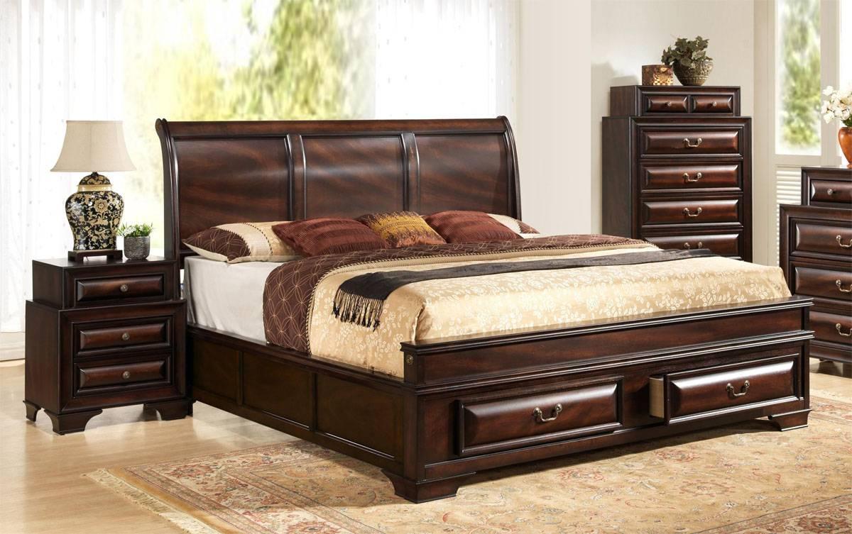Fashionable wood contemporary platform bedroom sets with - Platform bedroom sets with storage ...