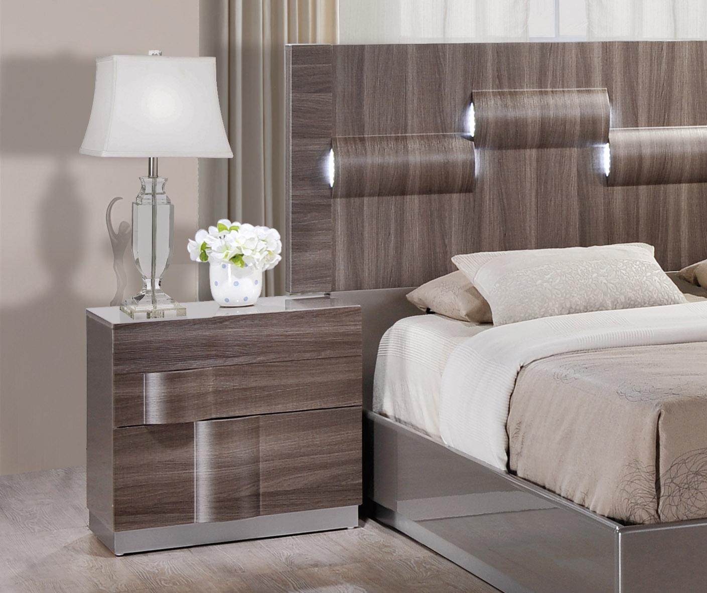 Glamorous Grey Zebra Wood Led Bedroom Set Philadelphia Pennsylvania Global Adel