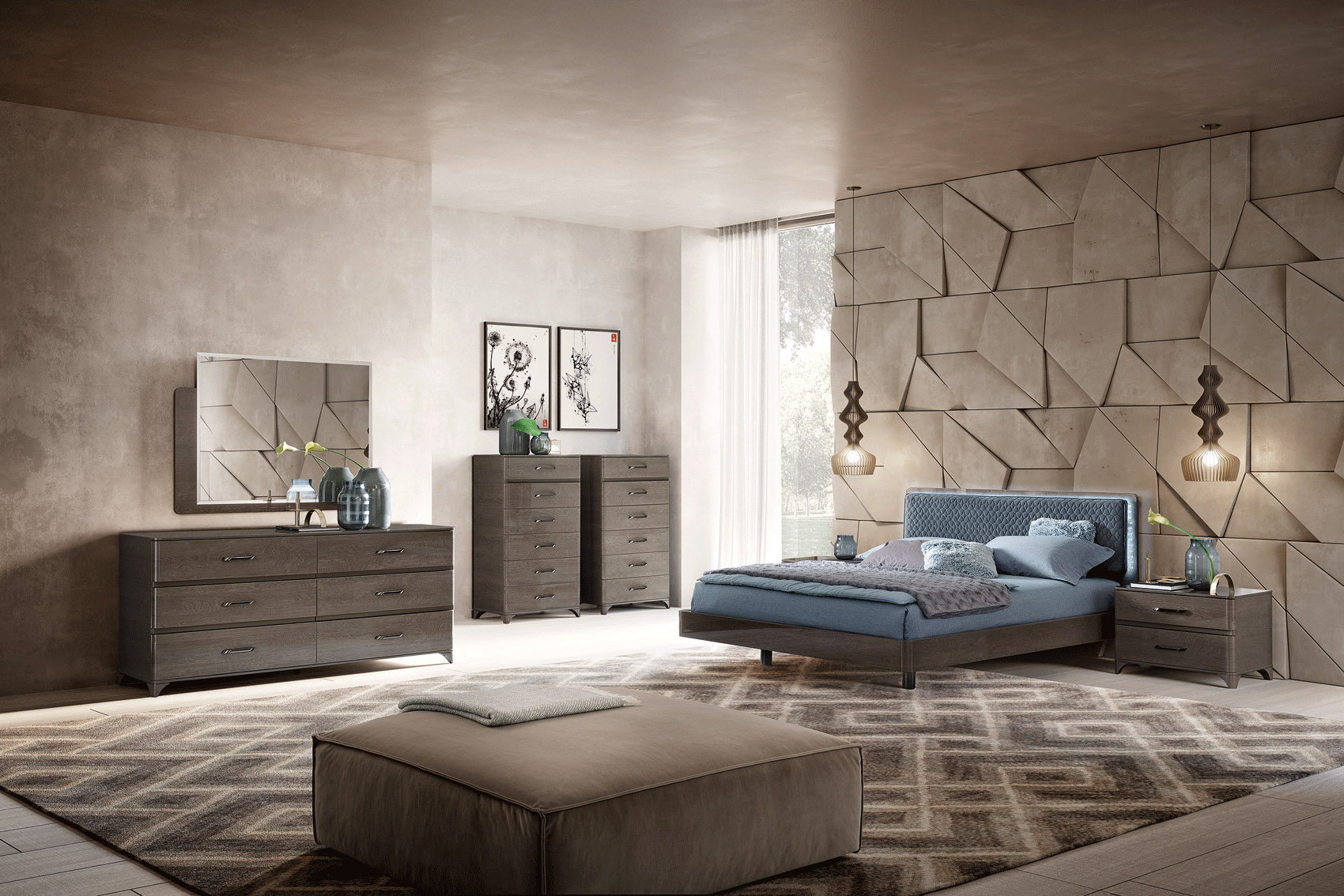 outstanding modern contemporary bedroom furniture | Made in Italy Quality Modern Master Bedroom Houston Texas ...
