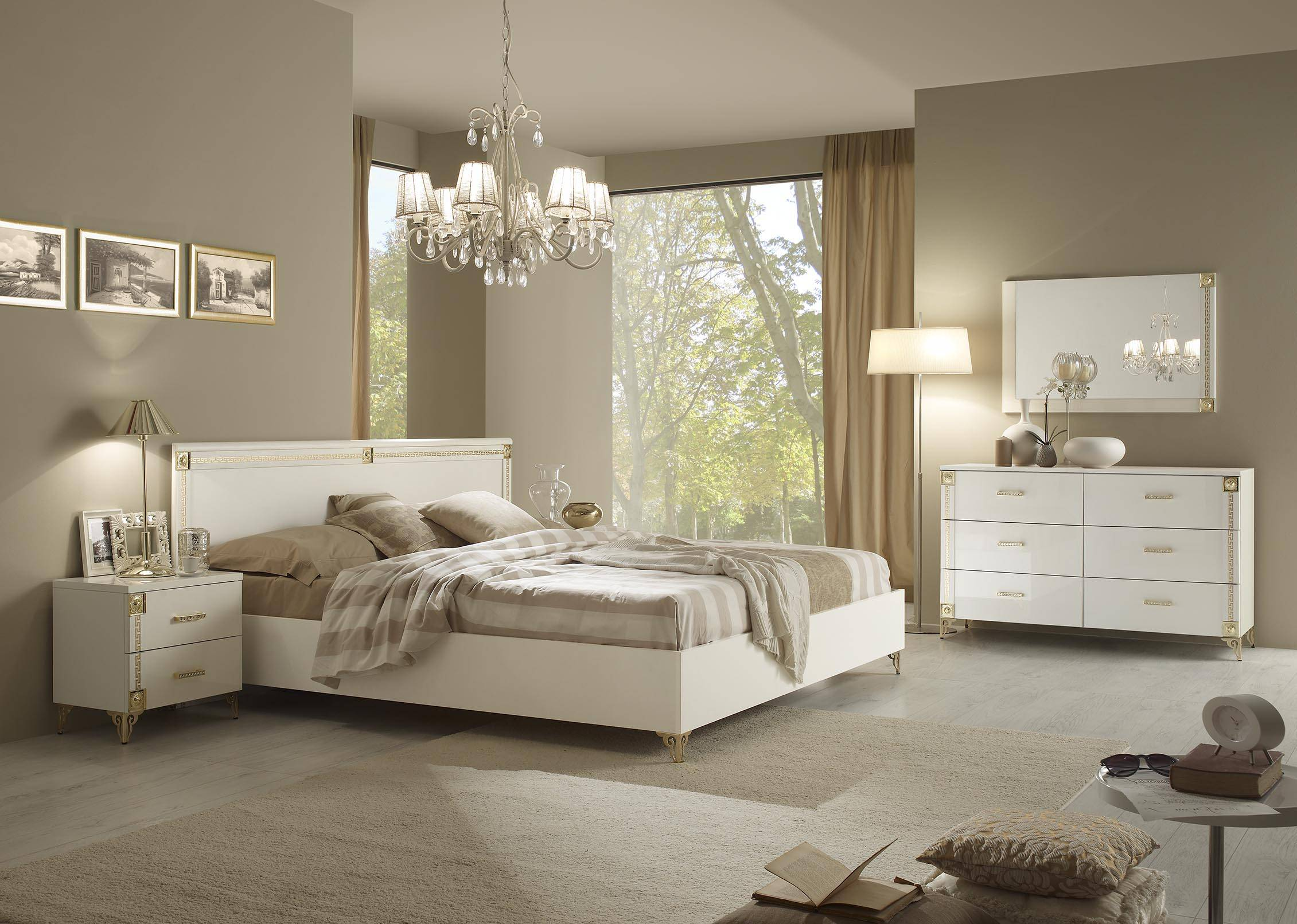 Made in italy quality luxury modern furniture set with for Italian bedroom furniture