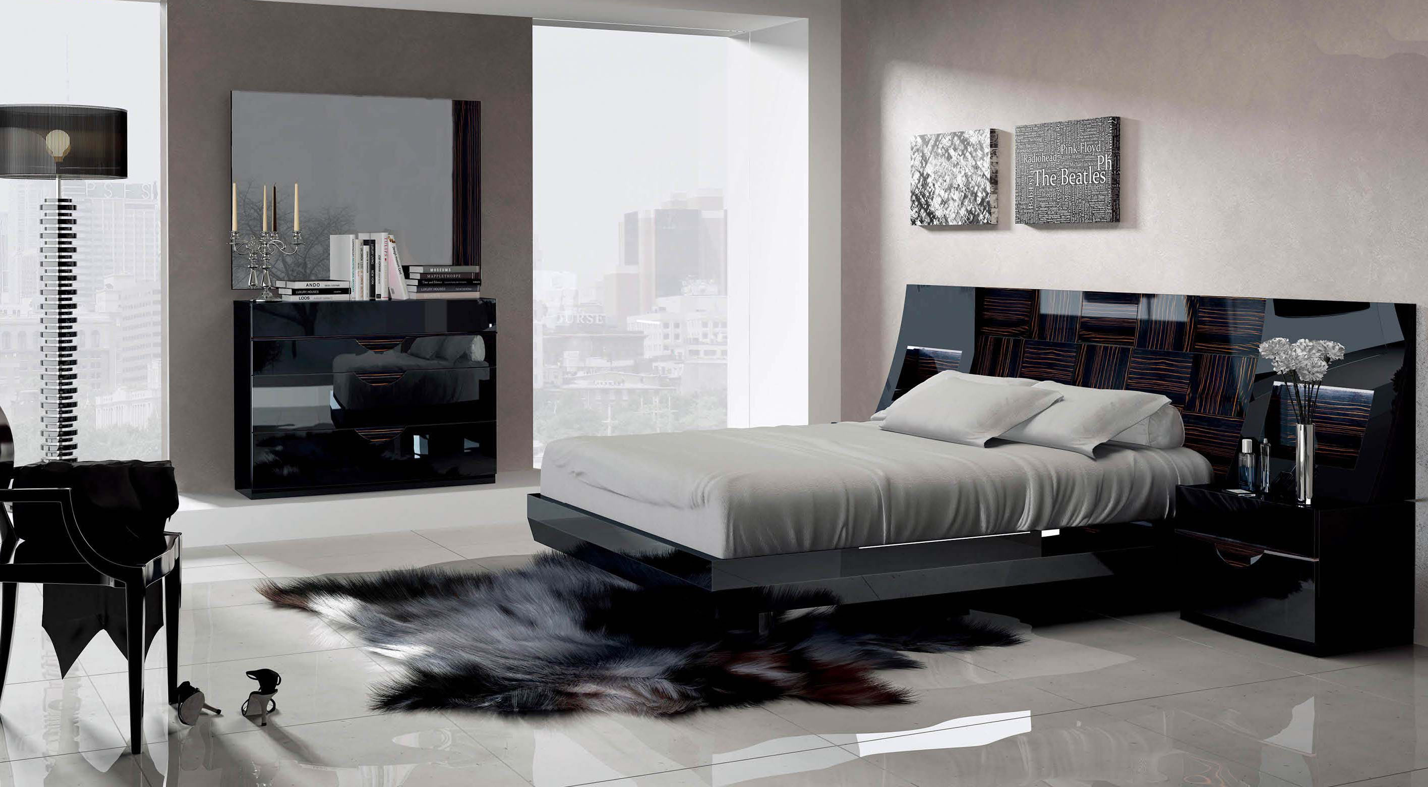 Made in Spain Wood Luxury Bedroom Furniture feat Light Atlanta