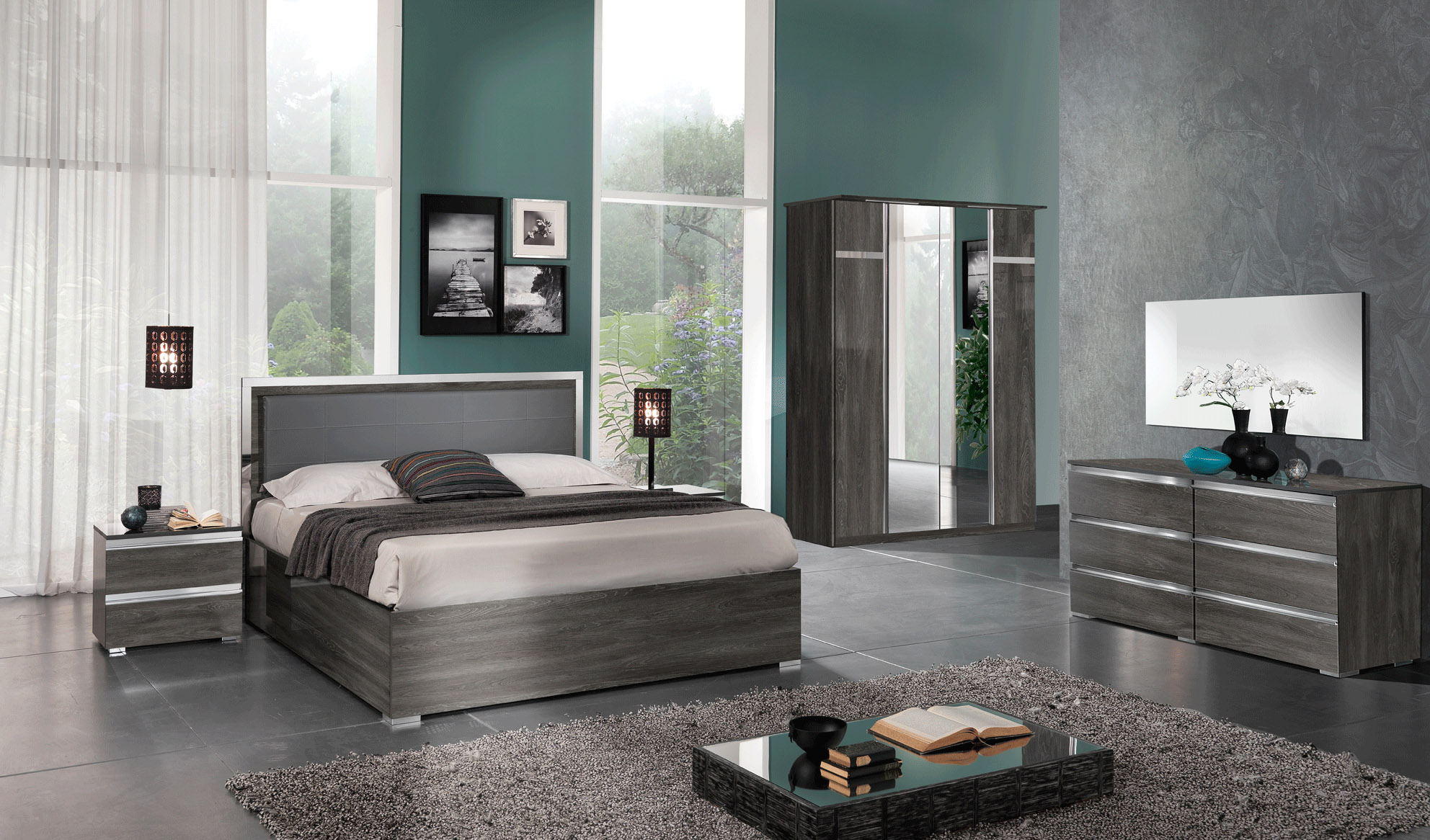 made in italy leather contemporary platform bedroom sets 10655 | italian bed furnishing grey master bedroom suite dreser oxford