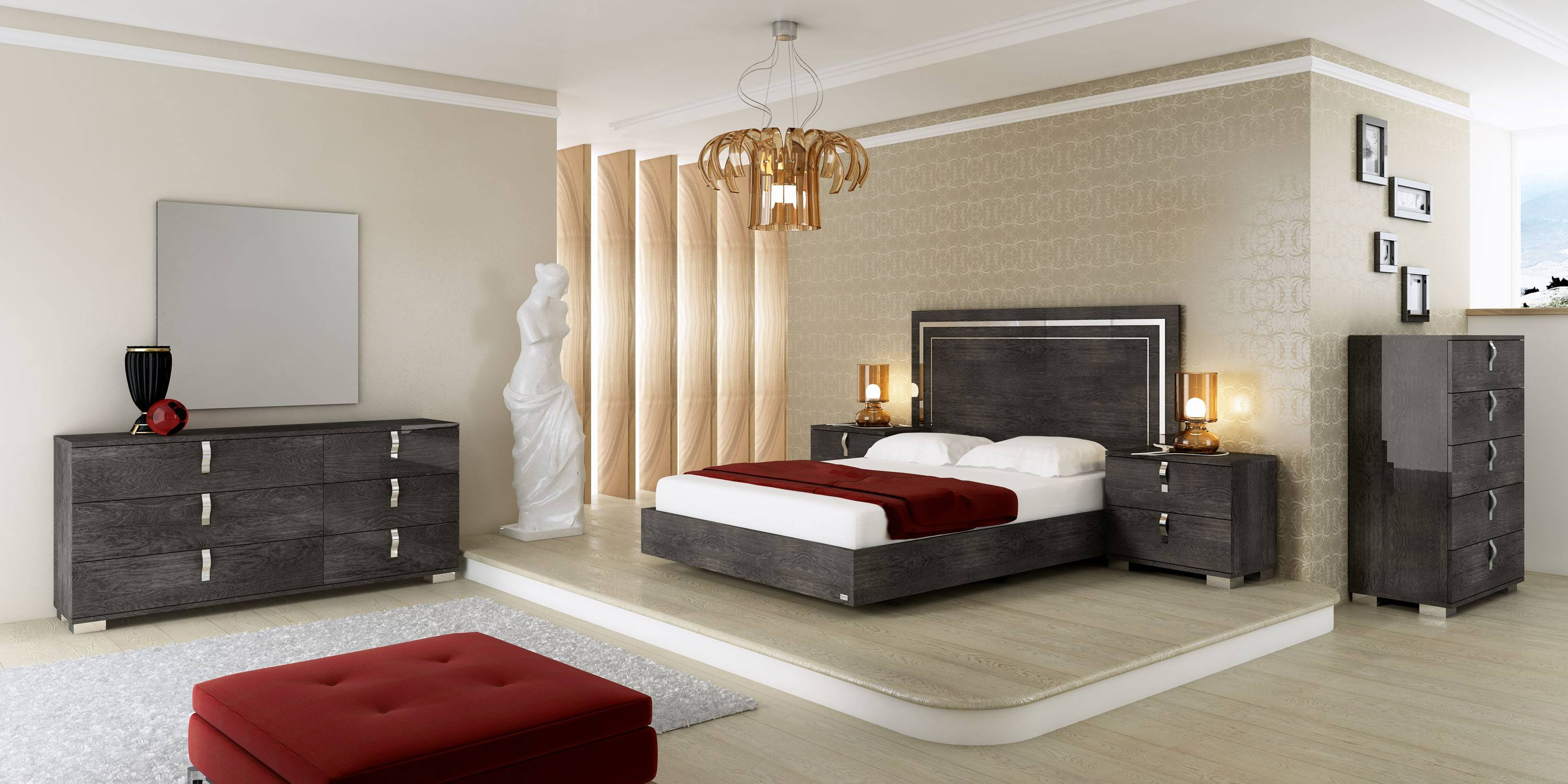 Made in Italy Wood Luxury Elite Bedroom Furniture with Extra ...