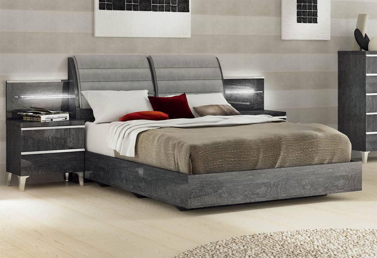 Made In Italy Leather Platform Bedroom Sets With Extra Storage San Francisco California Esfeli