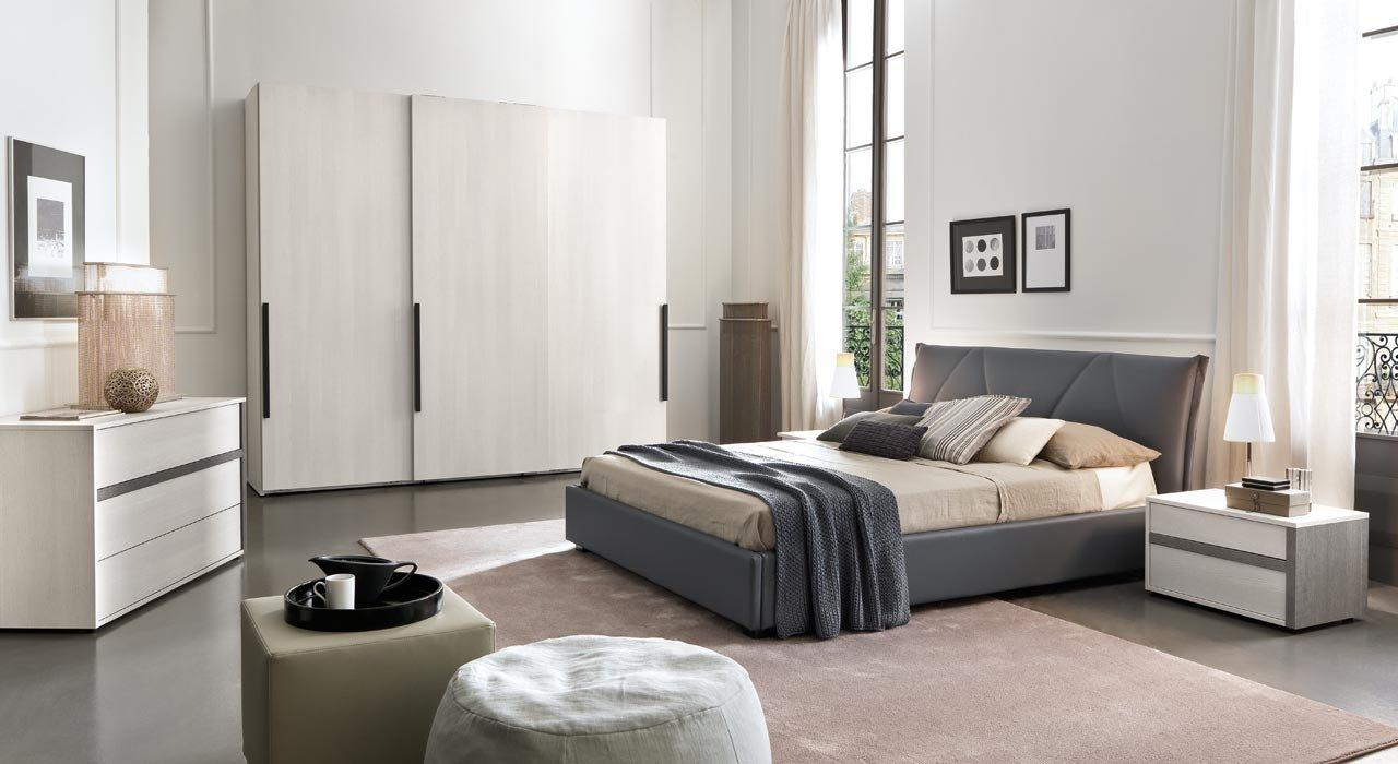 Made In Italy Leather Contemporary Bedroom Sets With