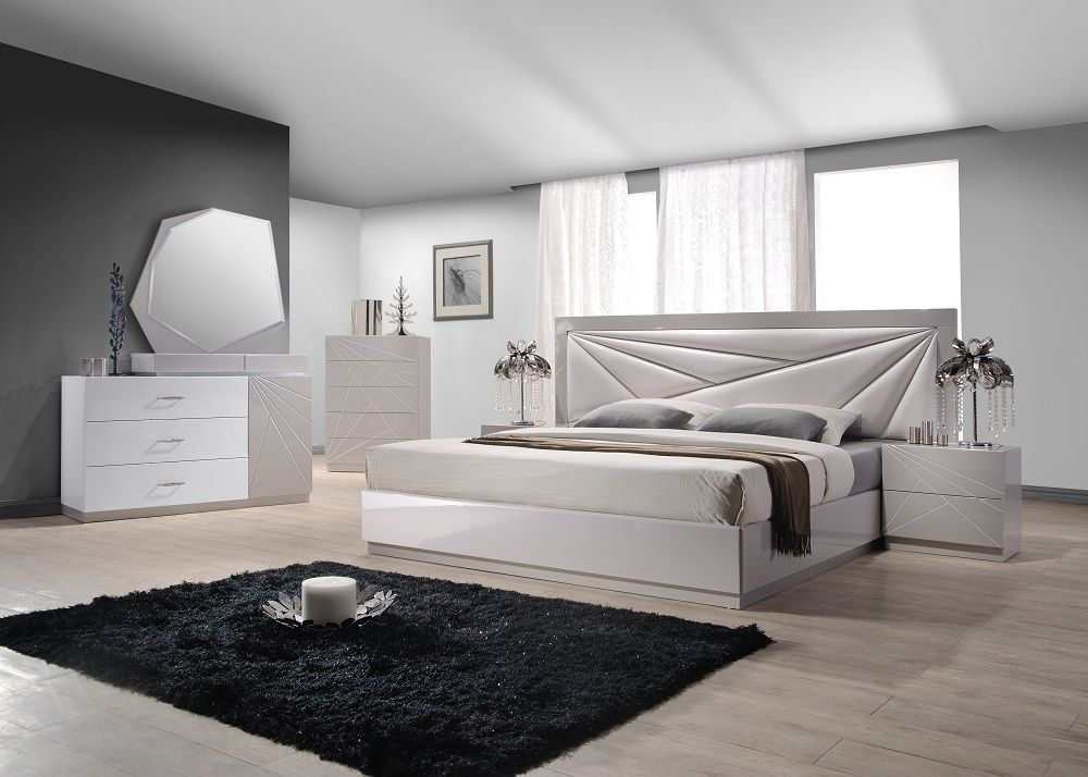 Unique wood modern furniture design set with spain design for White bed set furniture