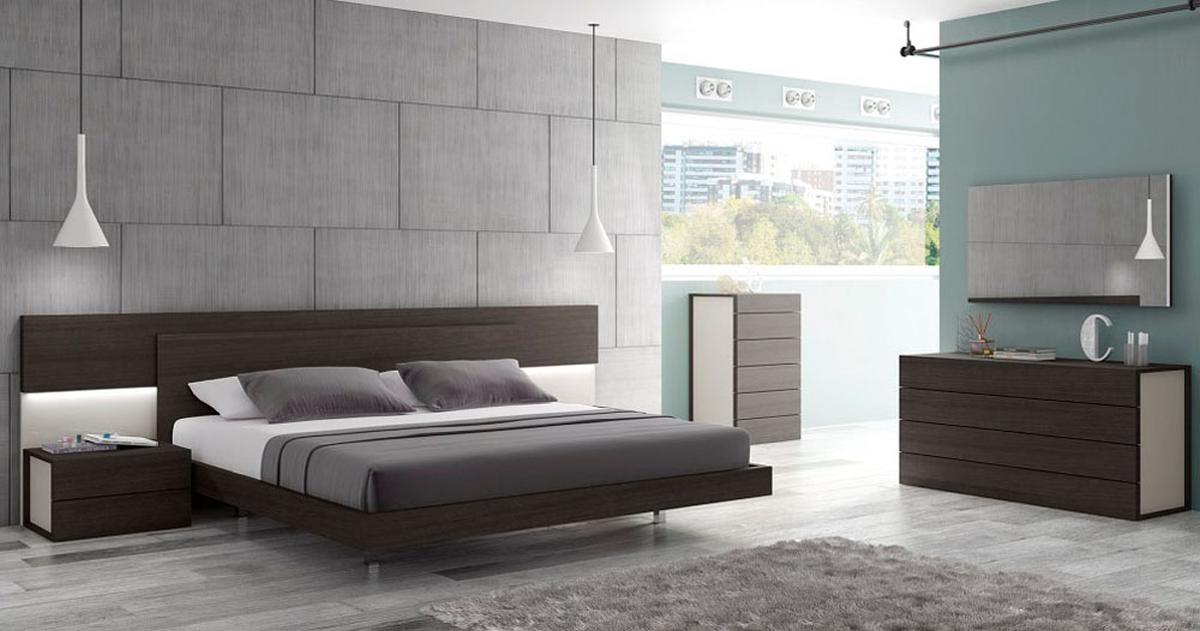 Graceful Wood Modern Contemporary Bedroom Designs feat Light