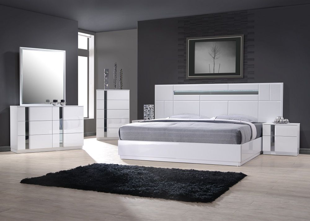 Exclusive wood contemporary modern bedroom sets los for Modern contemporary furniture