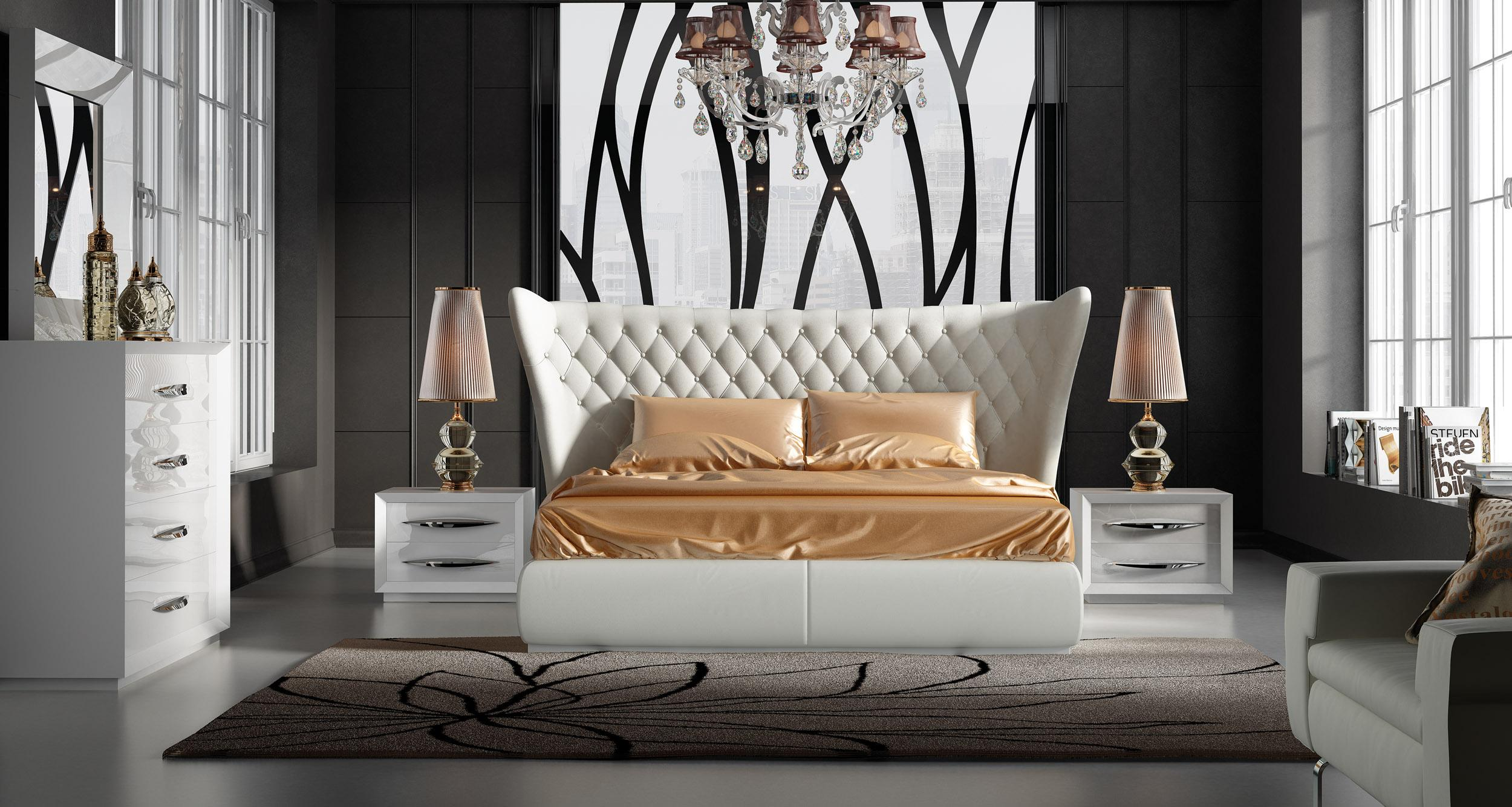 Stylish Leather Luxury Bedroom Furniture Sets Charlotte North ...