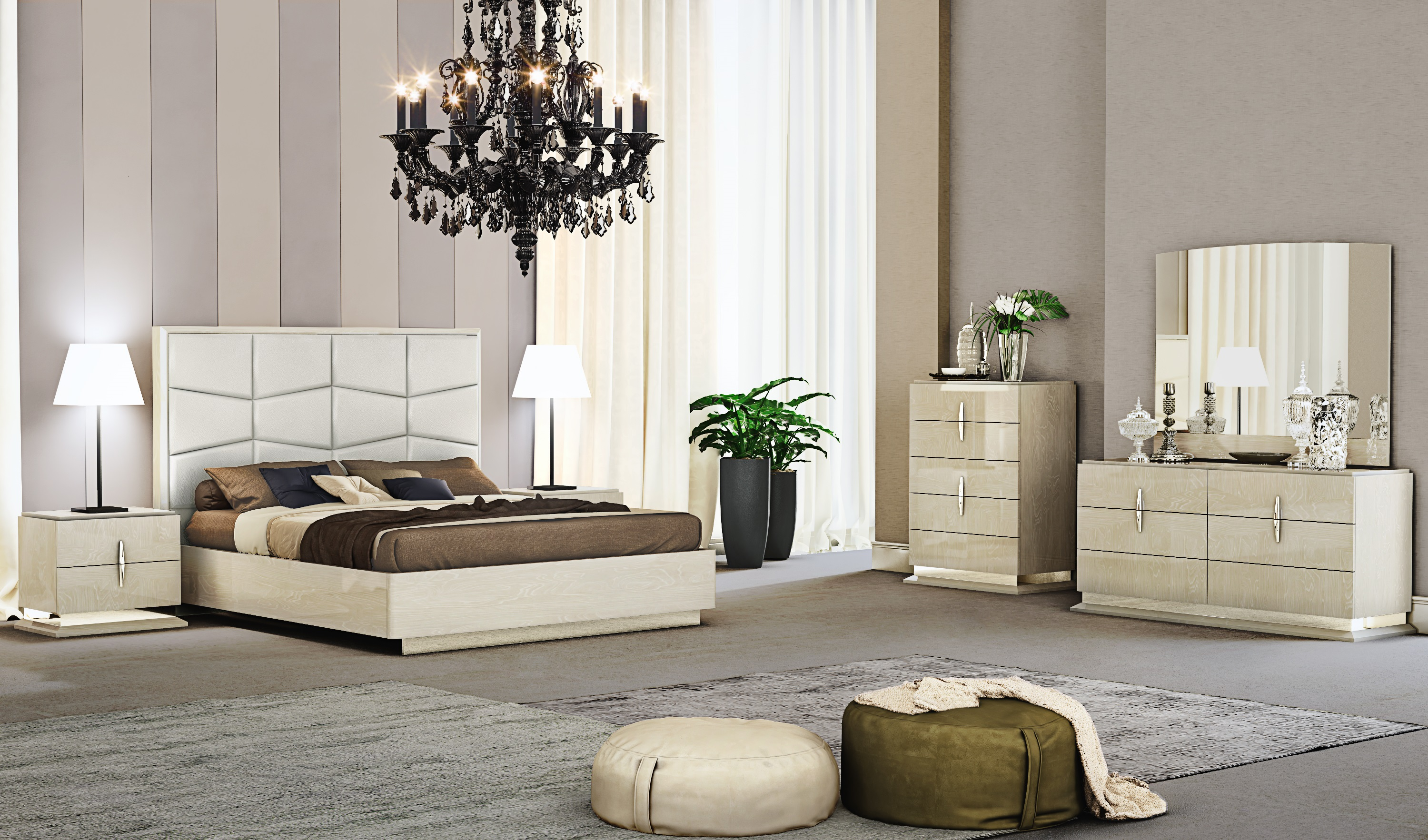 Fashionable Leather Luxury Contemporary Furniture Set San