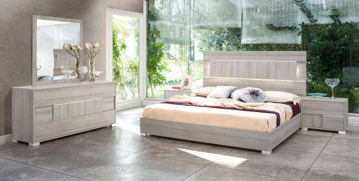 Made In Italy Quality Elite Modern Bedroom Set With Headboard Light El Paso Texas Vig Ethan
