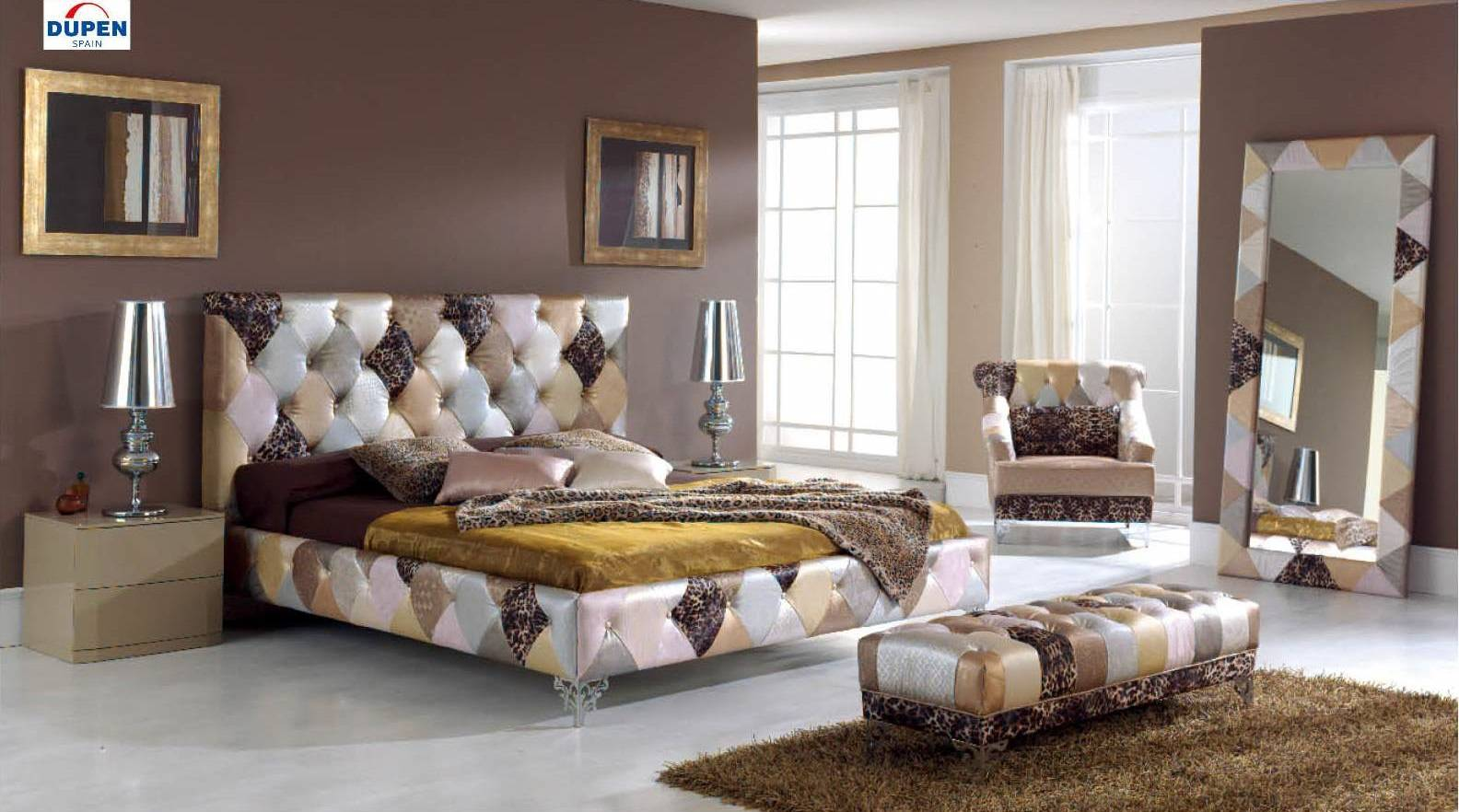 Made In Spain Leather Platform Bedroom Sets Charlotte