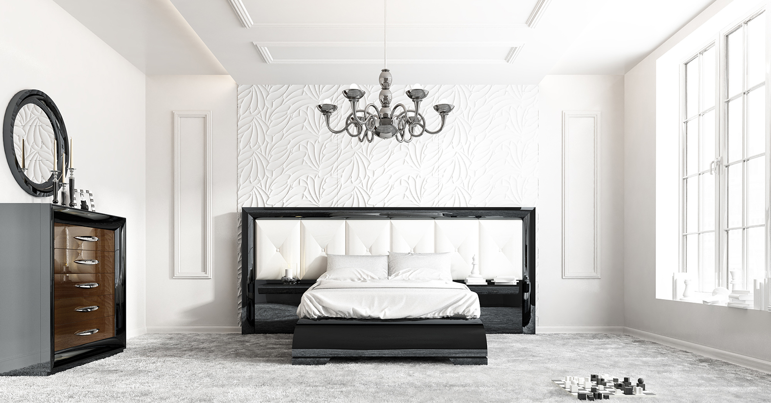 Unique Quality Designer Bedroom Set Miami Florida Franco-SK-40
