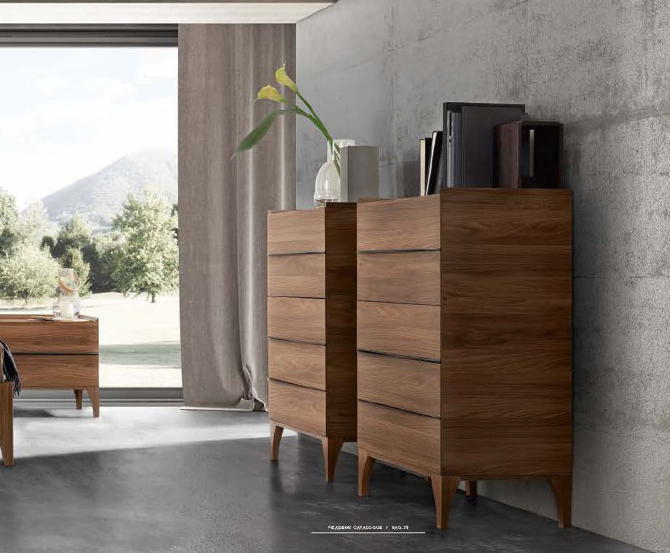 Made in Italy Leather Modern High End Furniture feat Wood Grain Lacquer - Click Image to Close