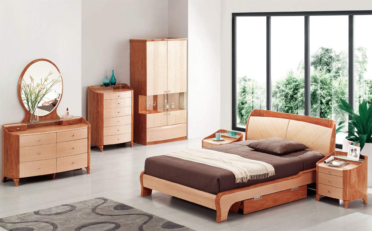 Exotic wood modern high end furniture with extra storage Luxury wood furniture
