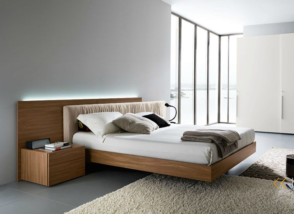 Exclusive leather high end bedroom furniture sets feat for Modern wooden bedroom designs