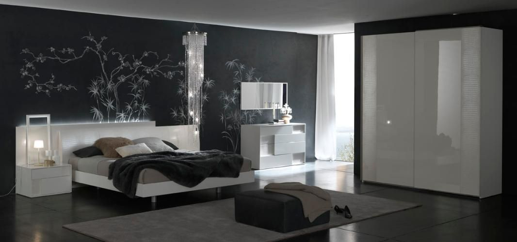Made in italy quality modern design bed set feat crocodile - Contemporary modern bedroom sets ...