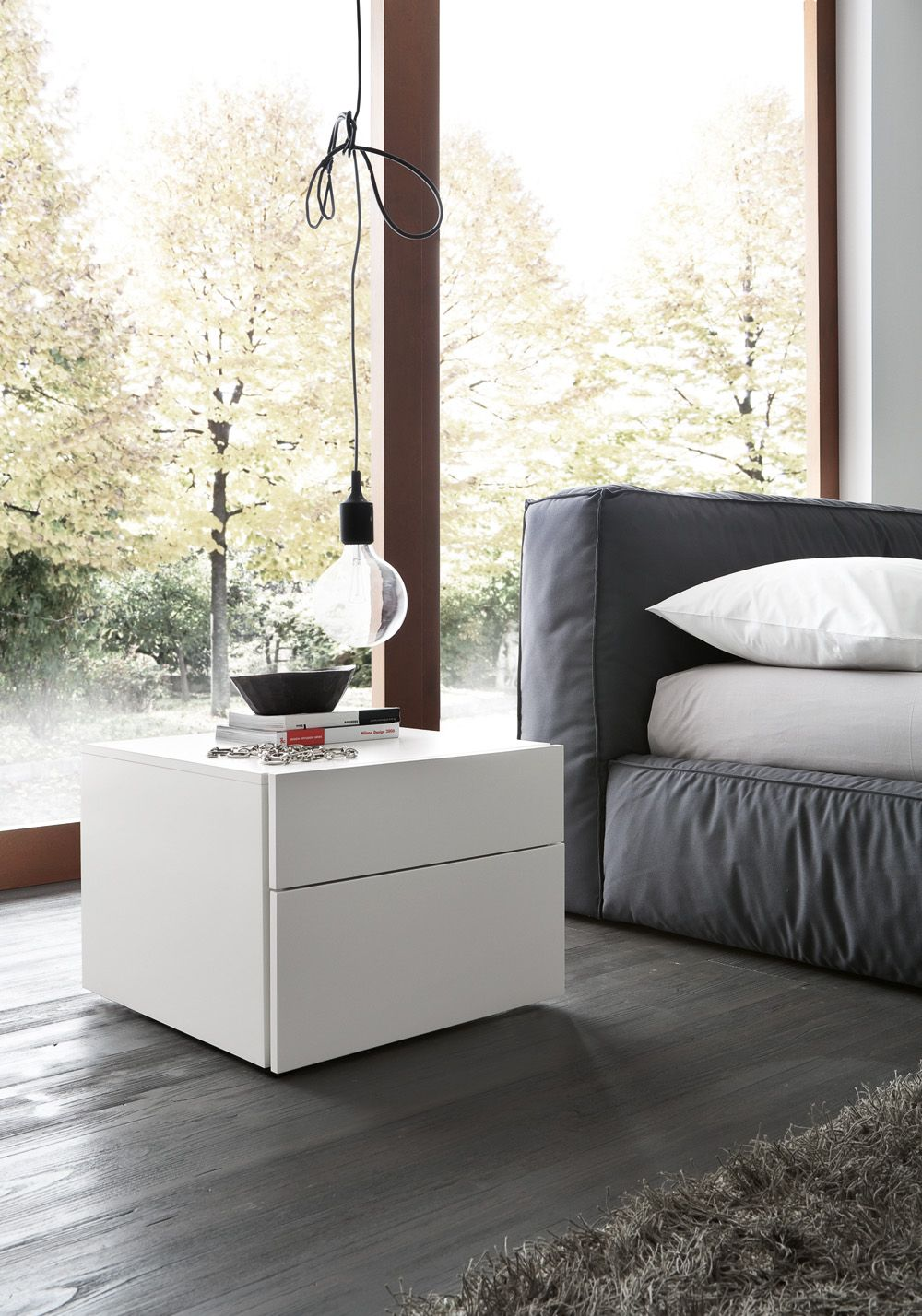 Modern Italian Bedroom Furniture Sets: Made In Italy Wood And Nano Fabric Modern Contemporary