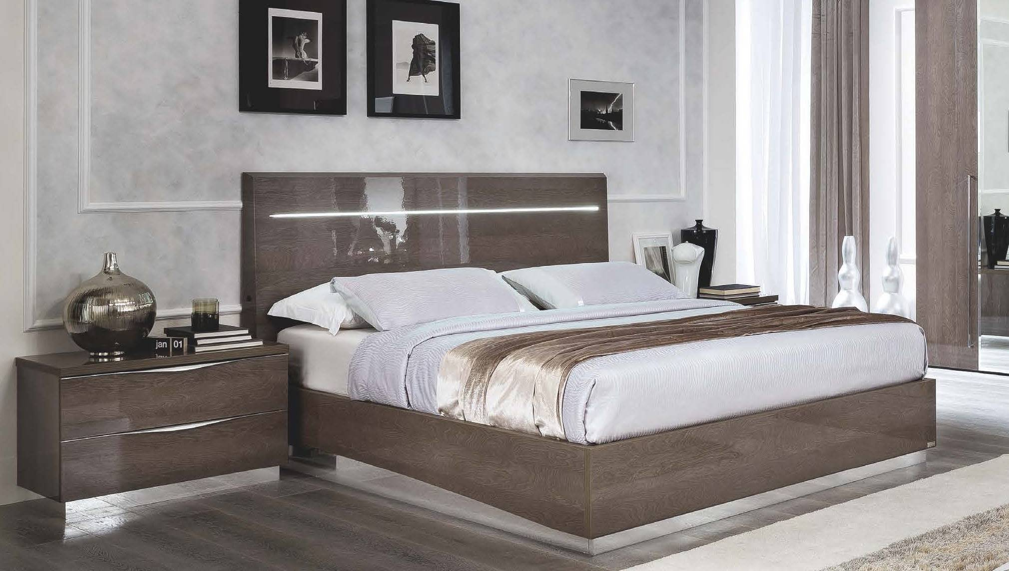 Made In Italy Quality High End Bedroom Sets San Jose California Camelgroup Platinum Silver Birch